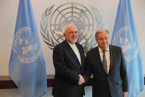 Iran's foreign minister, U.N. secretary-general meet in New York - IRNA