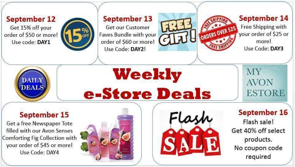 Online specials for the week at youravon.com/awright6142. #specials #savings #Avon