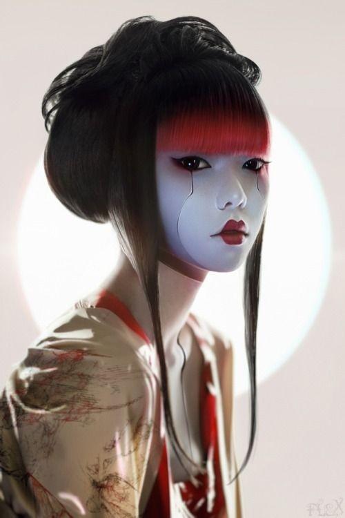 viola 🌸 Geisha by Hideki Fujii