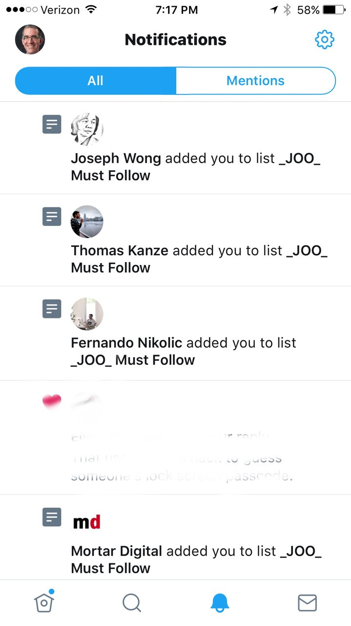 Those annoying _JOO_ Must Follow Twitter Lists you keep getting added to? The JooicerHQ handle is to blame, but they are making the Lists private after complaints. Thank you @Andy_Murdock for the detective work.