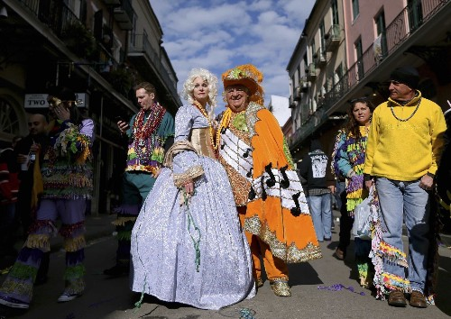 A Mardi Gras Party in New Orleans