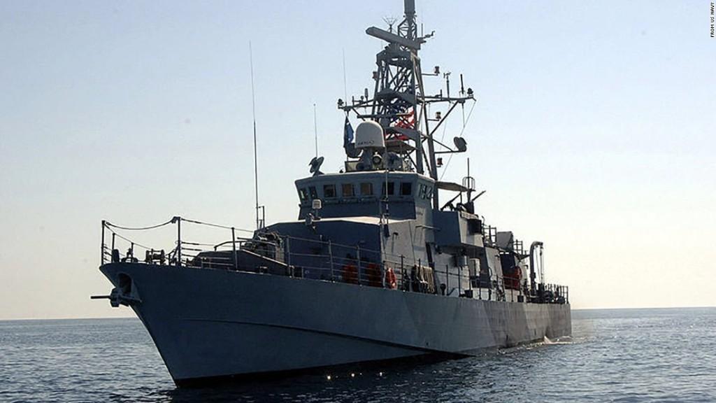 US Navy ship fired warning shots at an Iranian boat in the Persian Gulf
