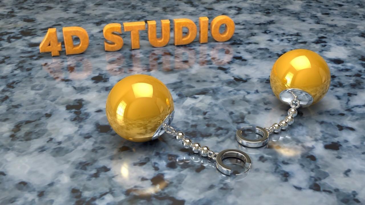 Dragón Ball Zarcillos de Fusion 4D Studio