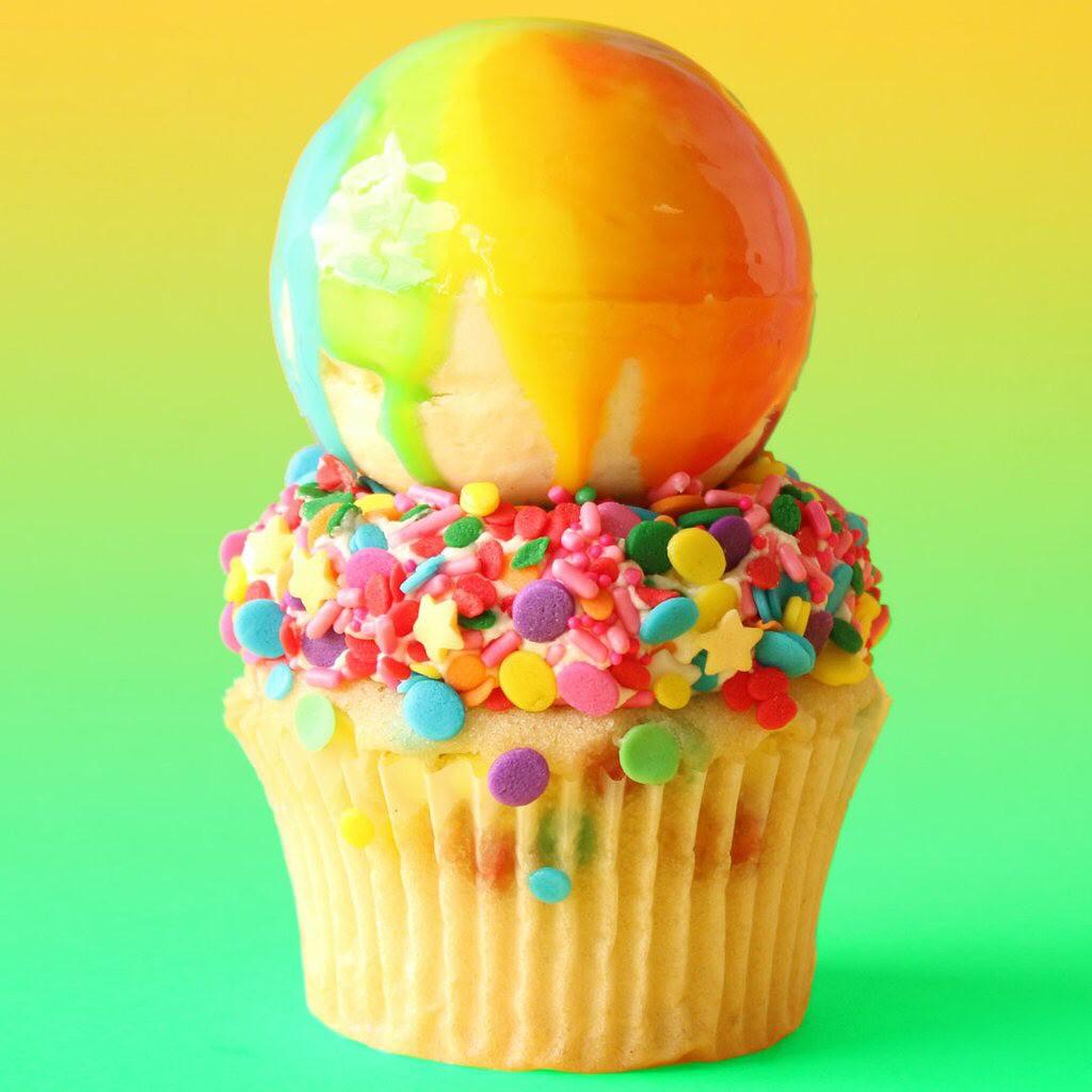 Rainbow Ice Cream Cupcake