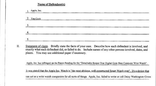 $2 billion lawsuit claims Apple Watch idea was stolen