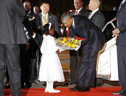 President Obama Arrives in Kenya