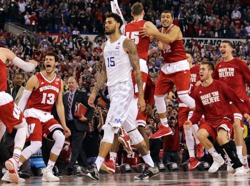 Wisconsin Stops Kentucky; Plays Duke Monday