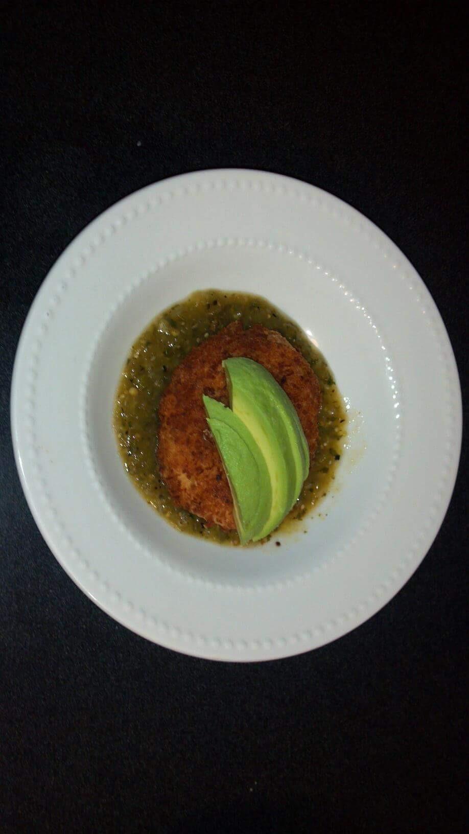 Torta de papa en salsa verde