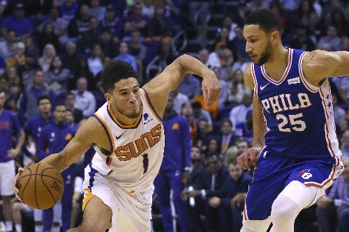 Booker scores 40 as Suns hand 76ers 1st loss, 114-109