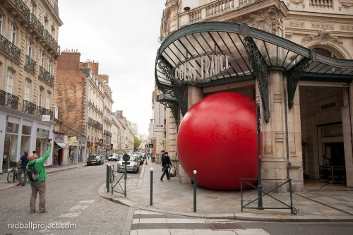 The Giant Red Ball That's Touring The Globe In The Name Of Art
