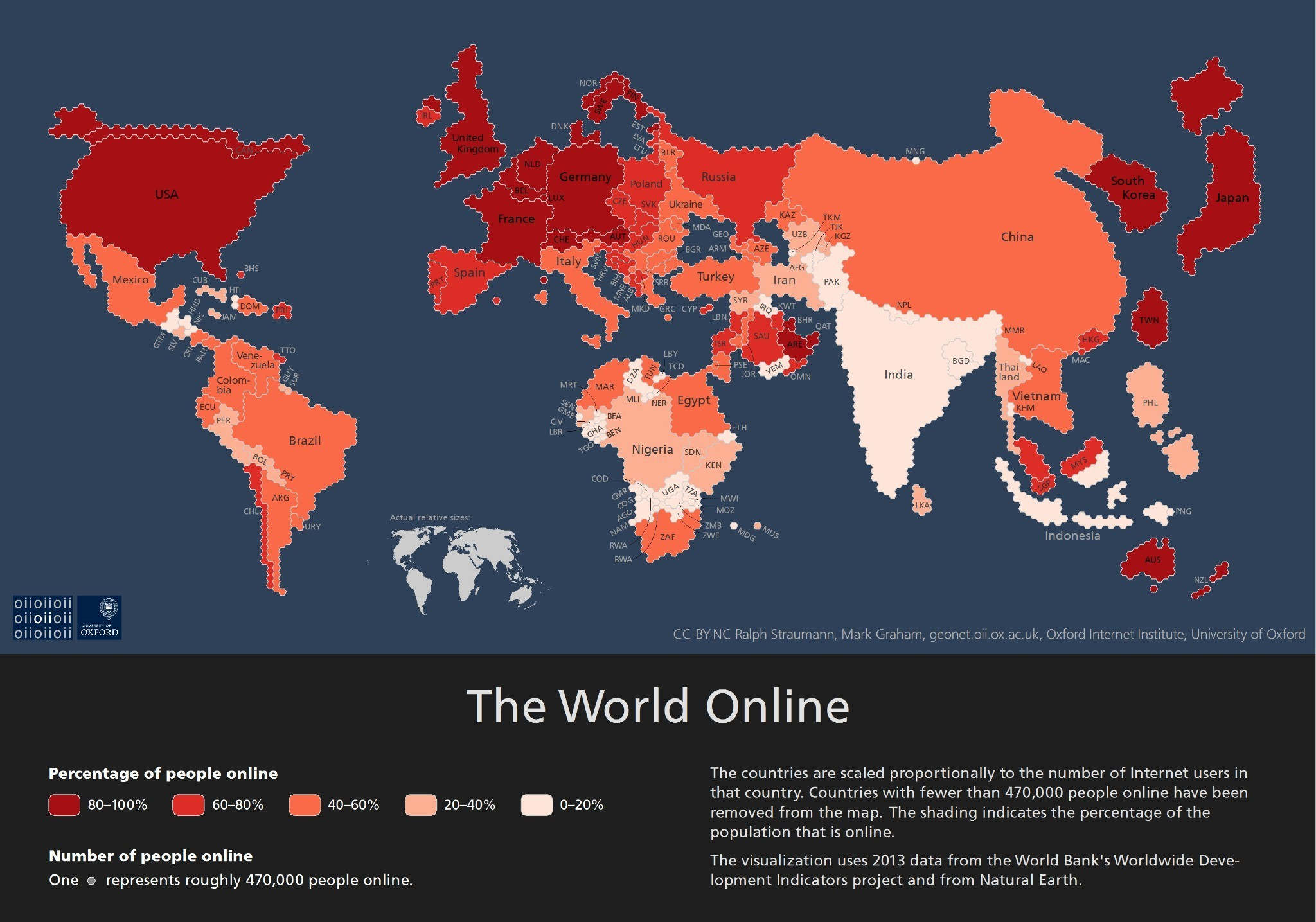 Where the Internet Lives: This Map Shows Which Countries Have Most People Online