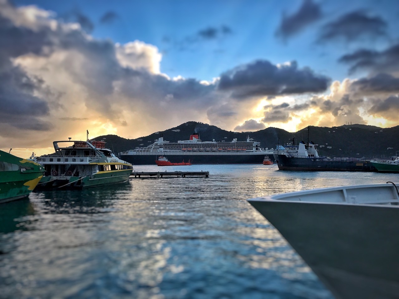 Queen Mary 2 in the #BVI