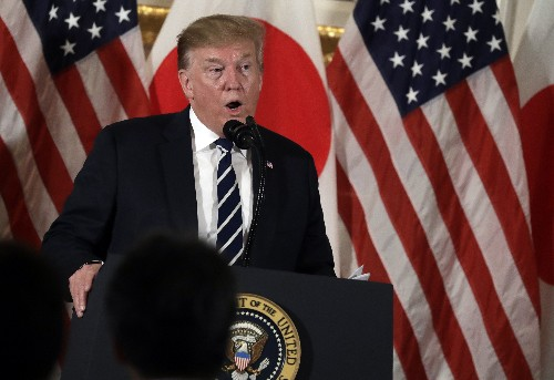 The Latest: Trump's sumo trophy will stand nearly 5 feet