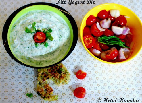 Dill Yogurt Dip - An easy peasy Dill Yogurt dip that is perfect for summer and any get together and picnics. Recipe here: