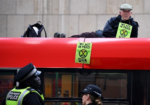 Goldman, Bank of England and stock exchange targeted by climate activists in London