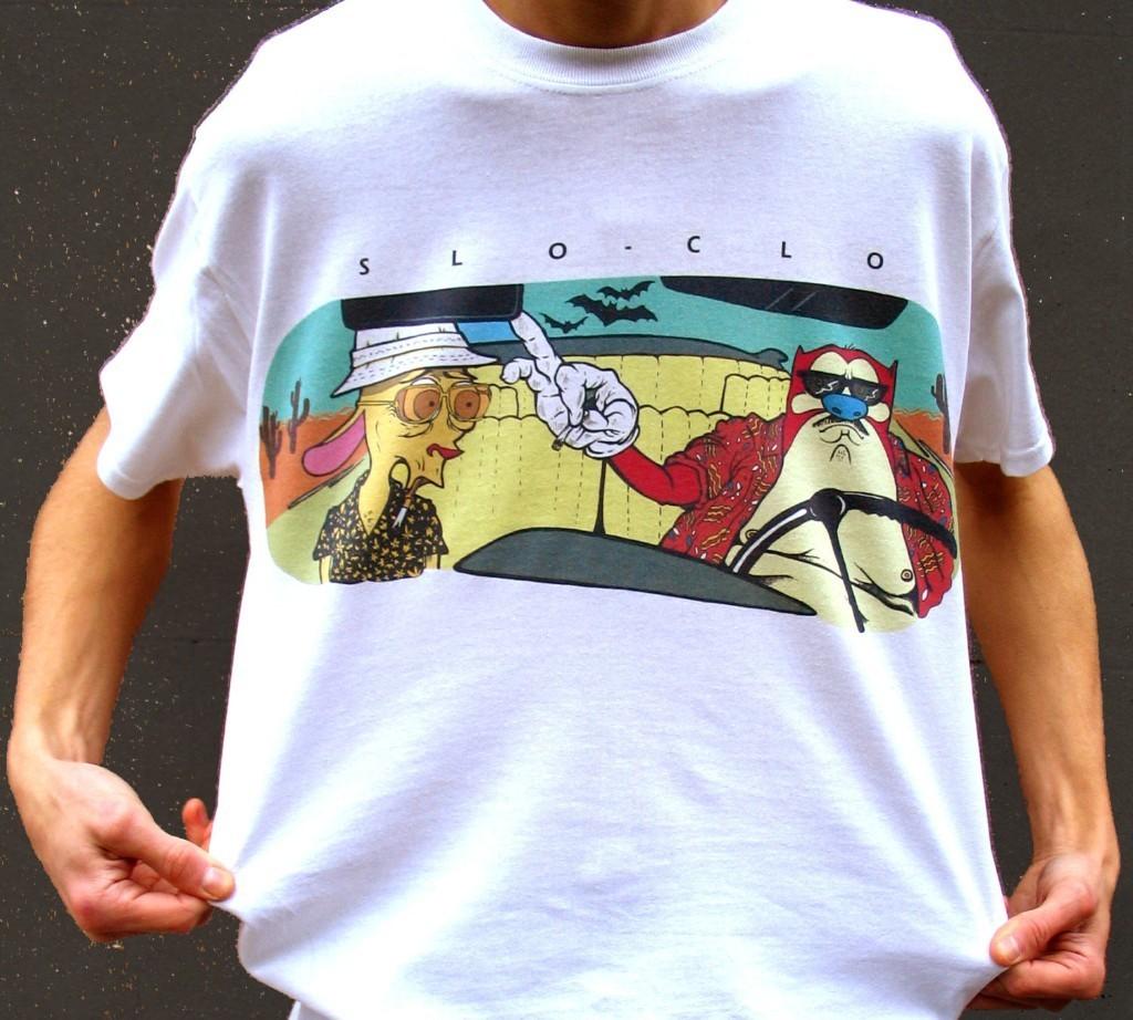Ren and Stimpy T-Shirt, Fear and Loathing T-shirt, 90s Cartoon t-shirt, retro cartoon tee, Hunter S Thompson Shirt, Weird T-Shirt