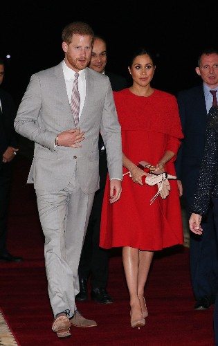 Prince Harry and Meghan arrive in Casablanca