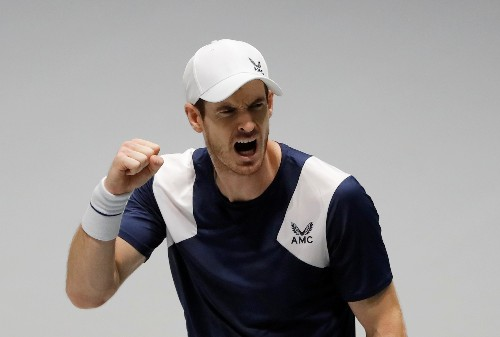 Tennis: Murray claws out victory to give Britain lead, Serbia win