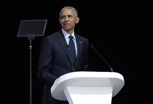 Obama delivers veiled rebuke to Trump in Mandela address