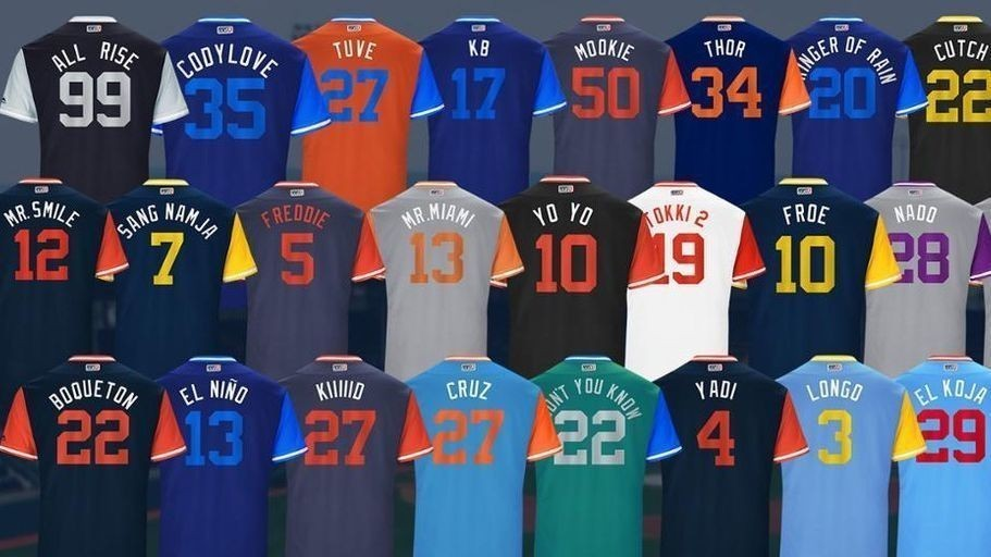 It's uniform change for MLB's Players Weekend
