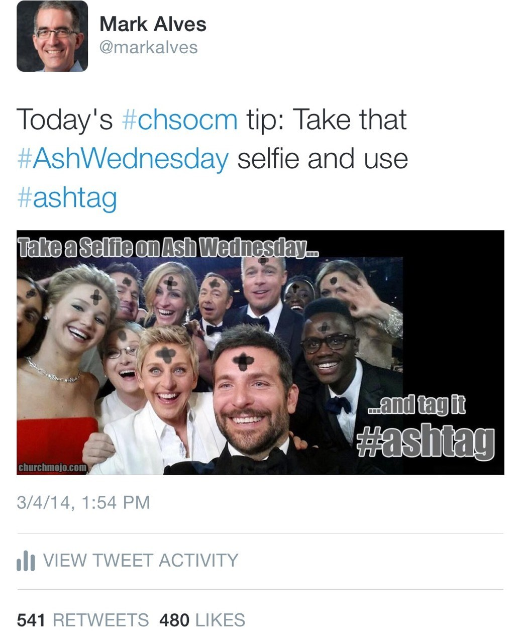 SOCIAL | my #ashtag meme sparked the hashtag to trend internationally on Ash Wednesday and landed an interview with the BBC.