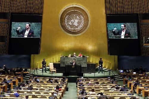 With selfie, El Salvador's leader urges UN to embrace tech