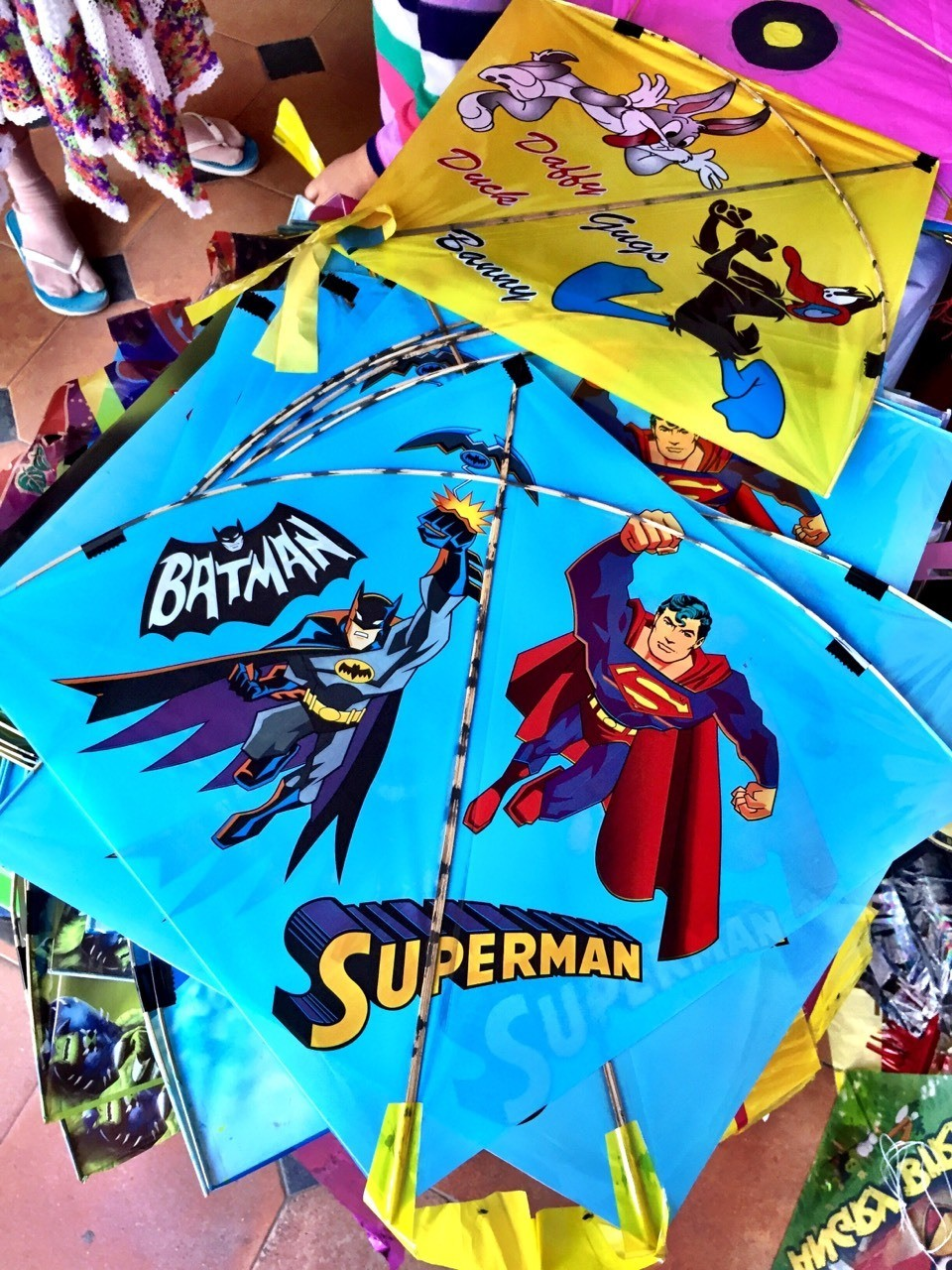 The super heroes take flight on kites #iphoneography #streetphotography