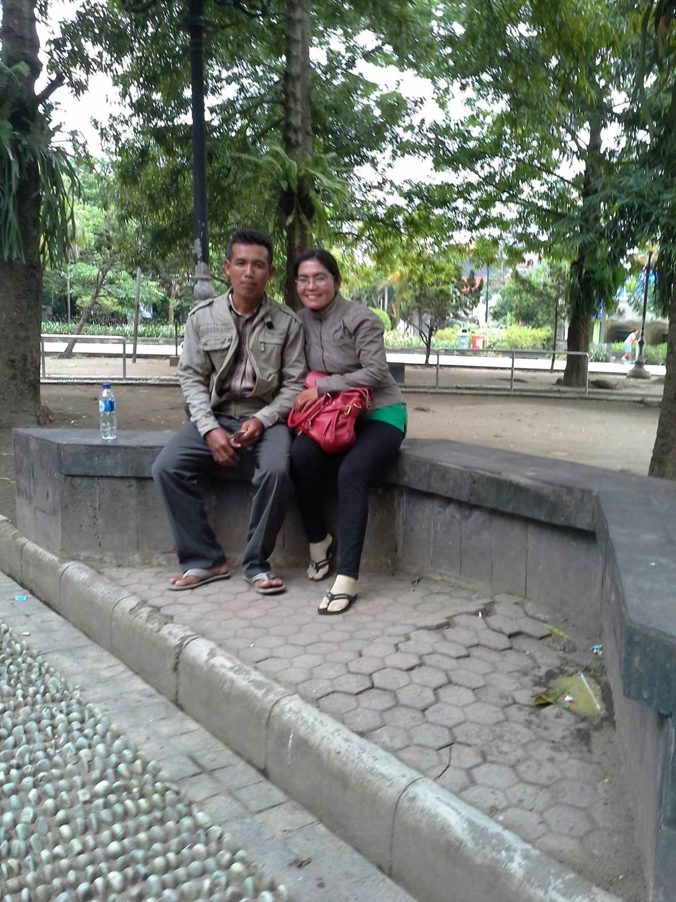 With my husband