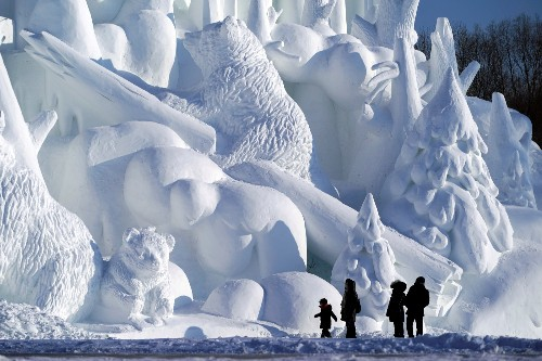 The Winter Wonderland of Harbin Ice and Snow: Pictures