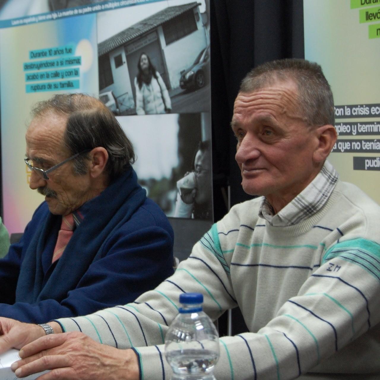 Juan y Ion, protagonistas de la exposición Personas sin Hogar