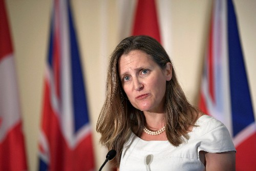 Canada's Freeland, on weak yuan, says many reasons for currency fluctuations