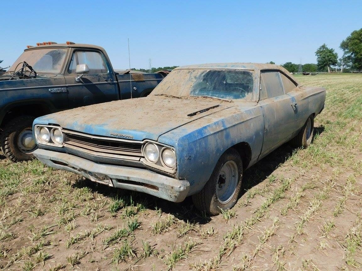 There might be a little dust on the Plymouth.