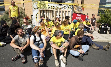 Anti-fracking group stages day of action
