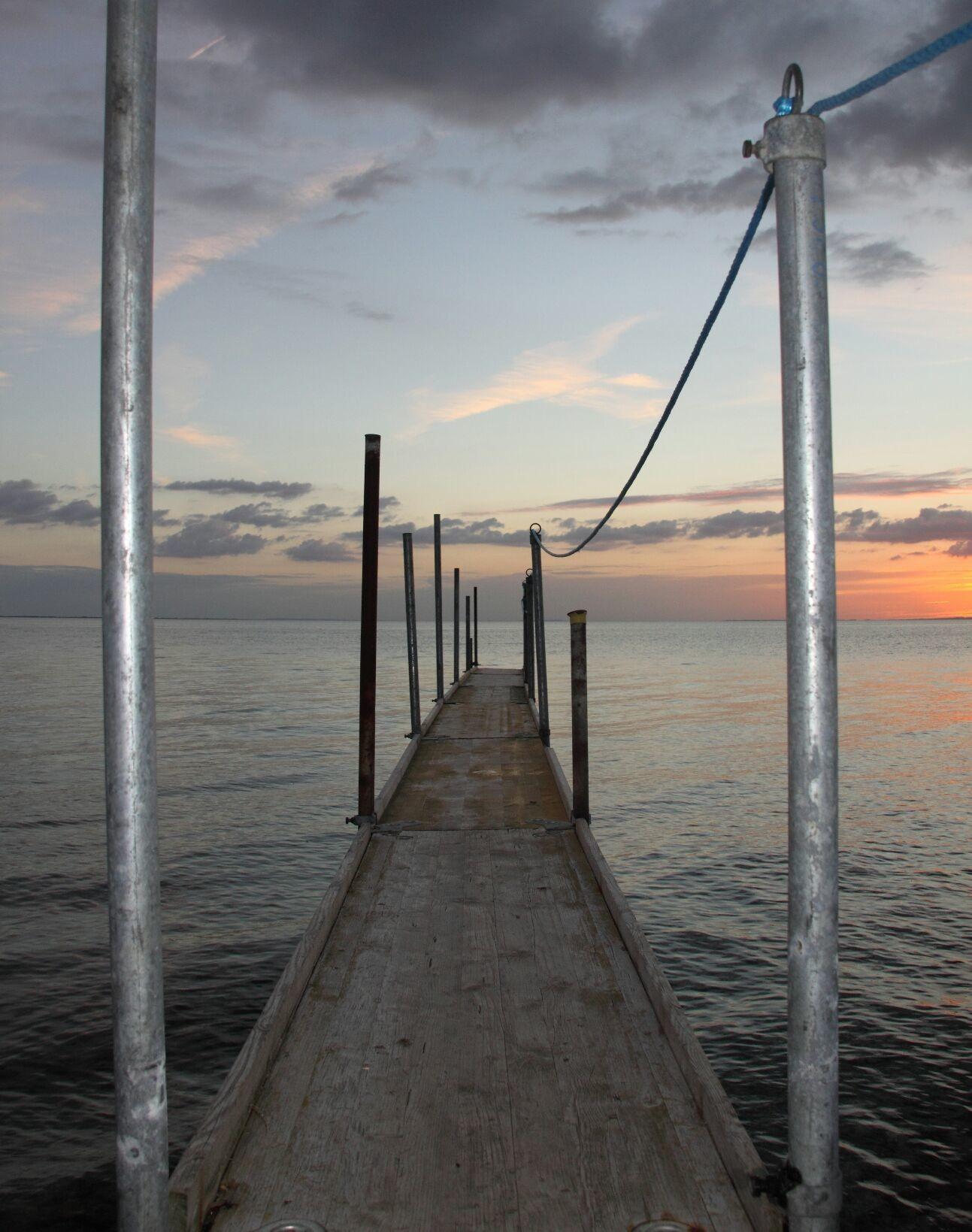 Calm evening sea. Samsø, Denmark