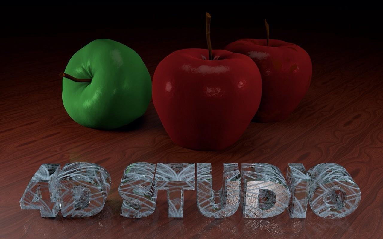 Apple and Cristal 4D Studio