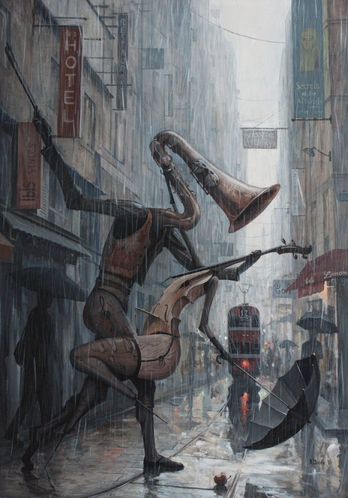 "viola 🎼 Adrian Borda 🎶 ""Life is a dance in the rain"""