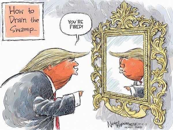 Political Cartoons - Magazine cover