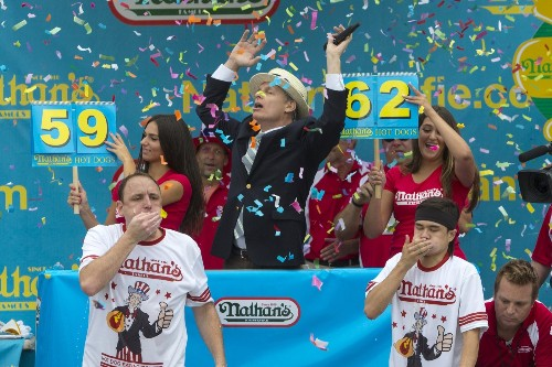 New Champ in Hot Dog Eating Contest