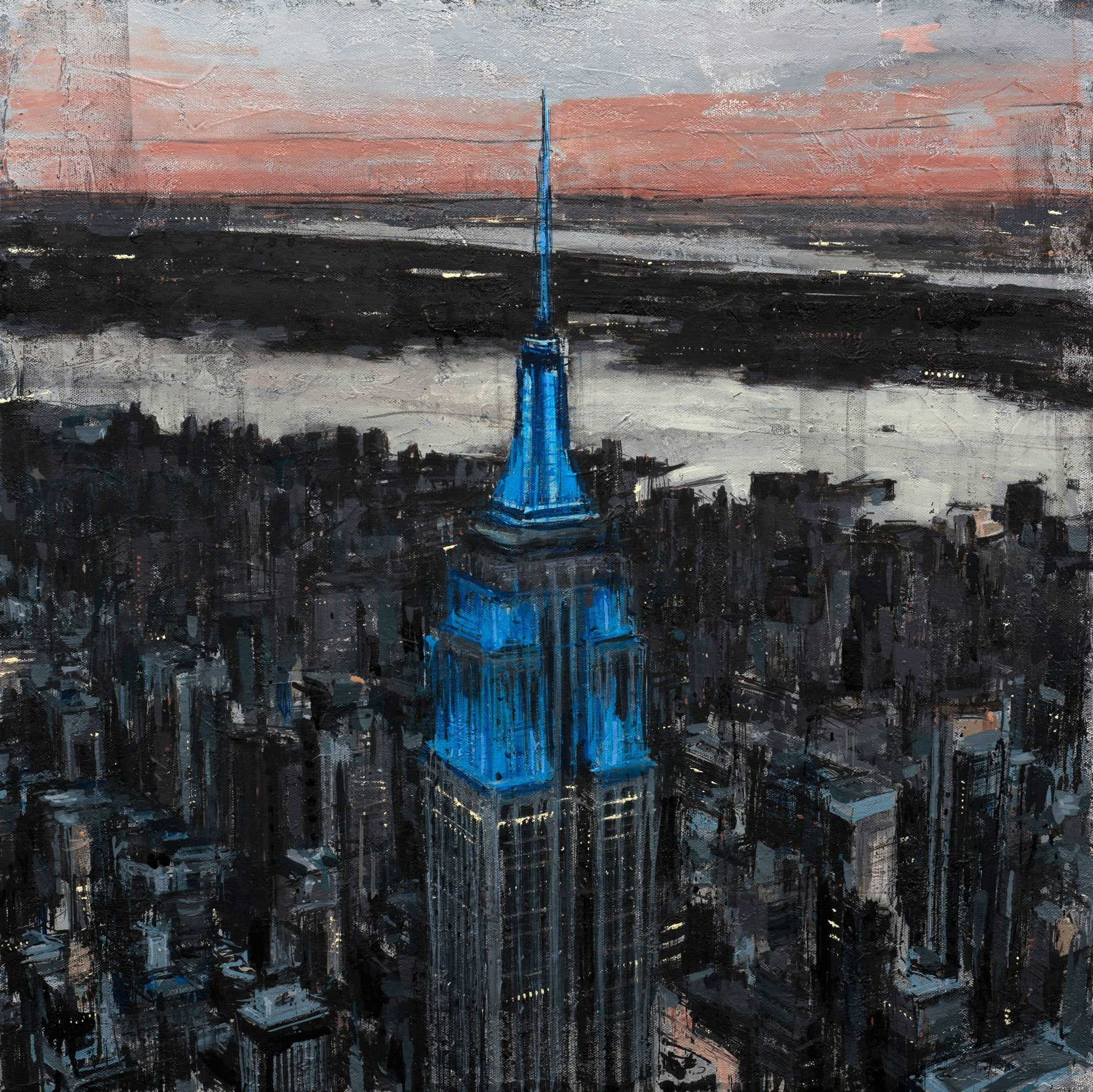 Melty Oil Paintings Capture the Dramatic Beauty of New York City