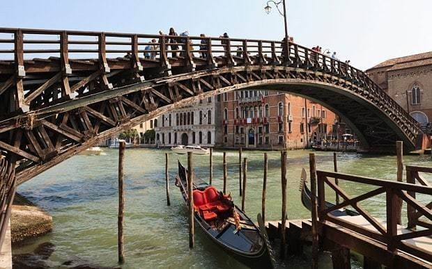 How Venice's only timber bridge is to be restored thanks to the private sector