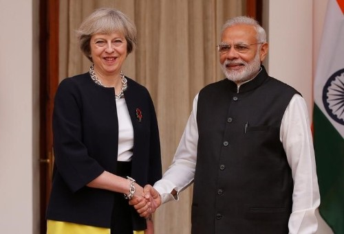 UK PM May says can deepen India trade ties before leaving EU