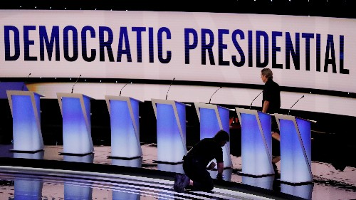 Democrats excluded from debate to fill time with TV, town halls and beer