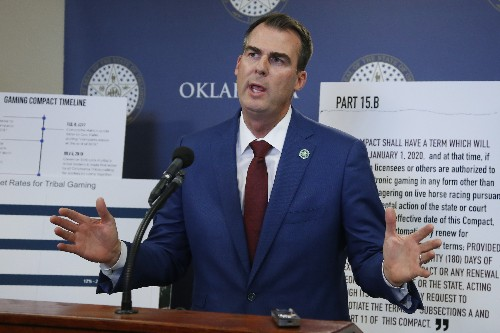 Oklahoma governor digs in on gambling showdown with tribes
