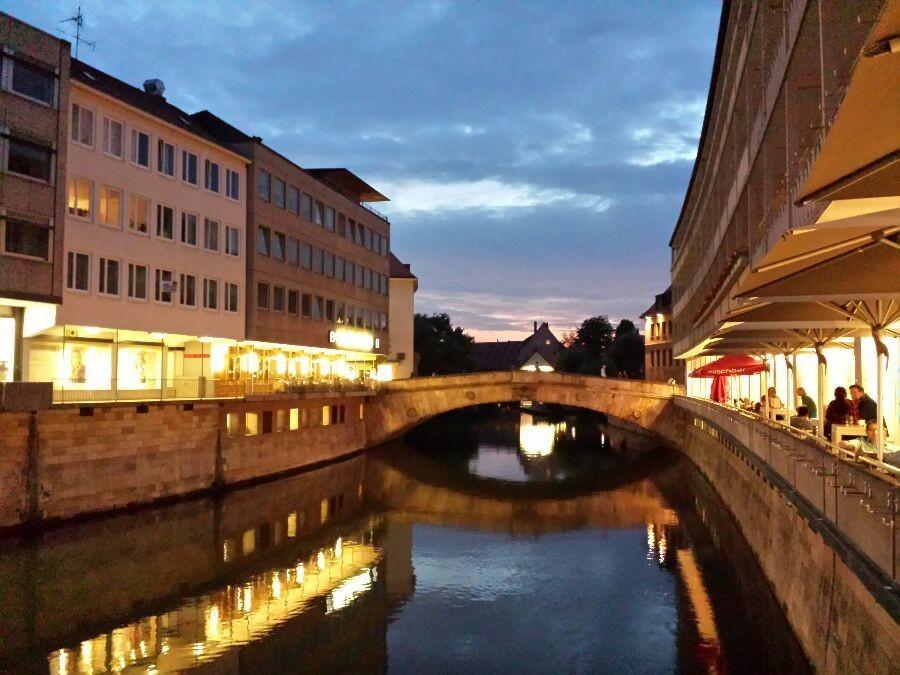 La sera che cala su Norimberga.