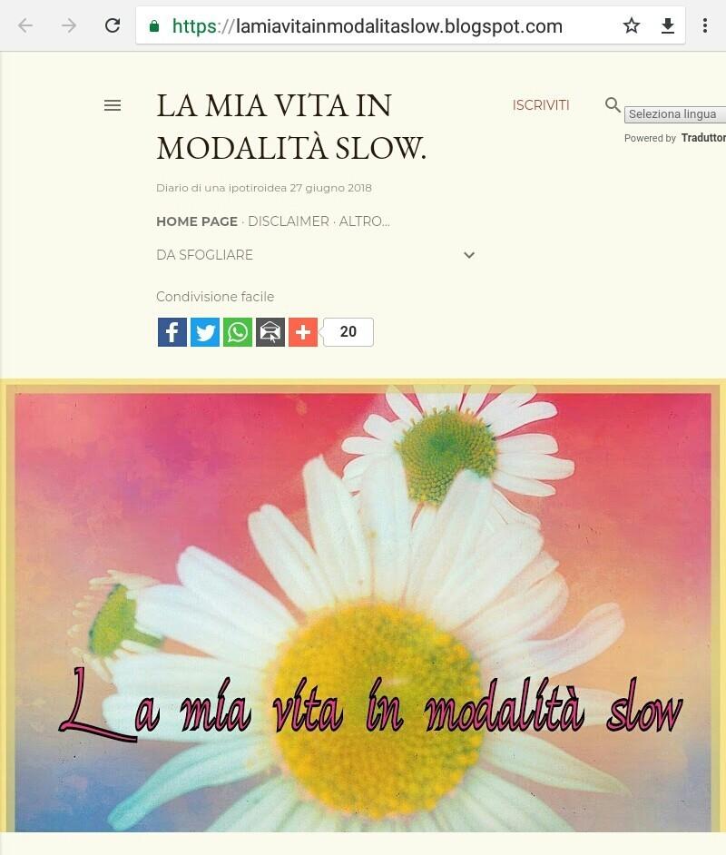 La Mia Vita In Modalità Slow - Magazine cover