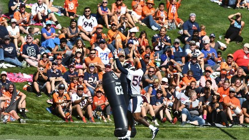 Video highlights from the first day of Broncos Camp