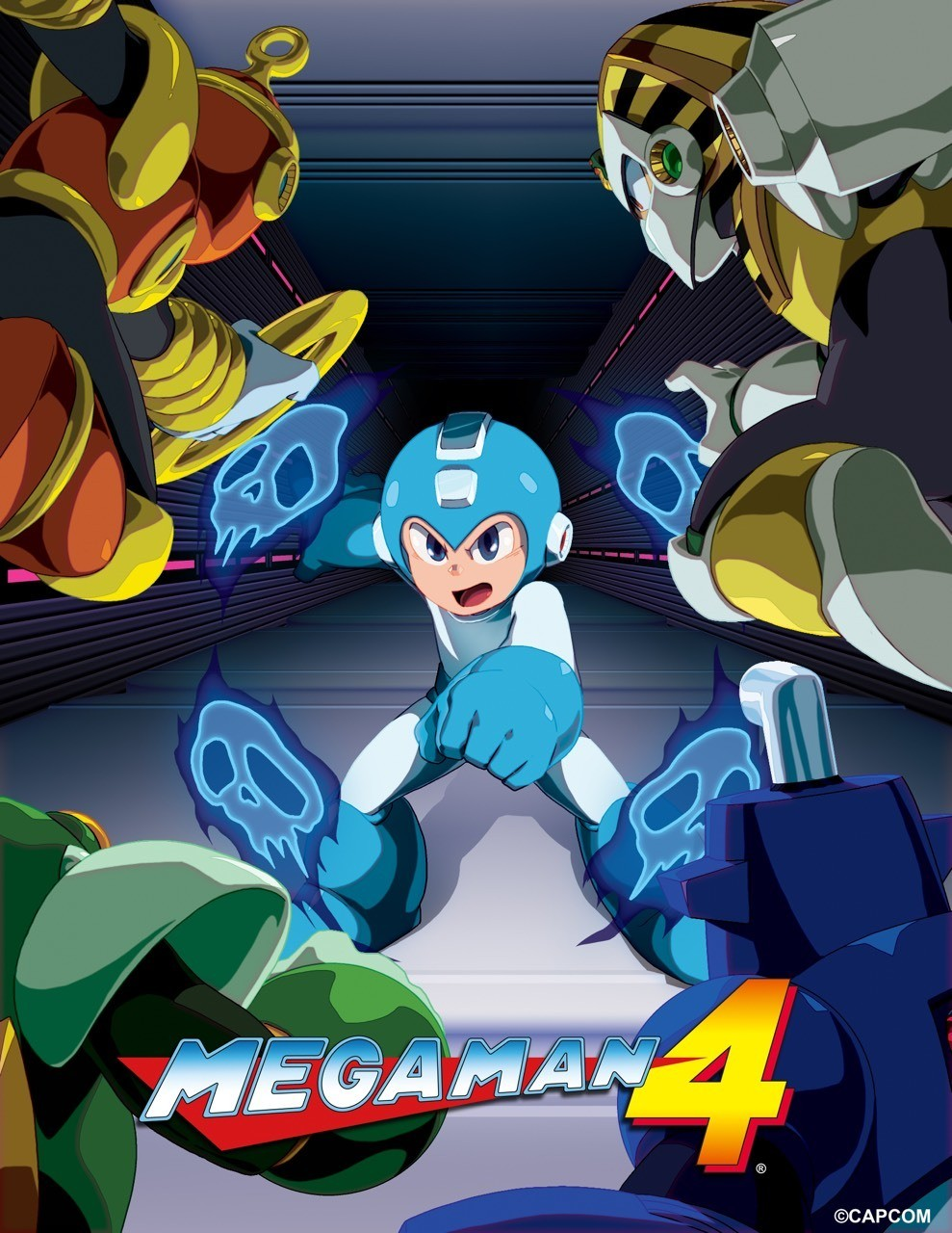 Mega Man IV - Official art from the Mega Man Legacy Collection game.