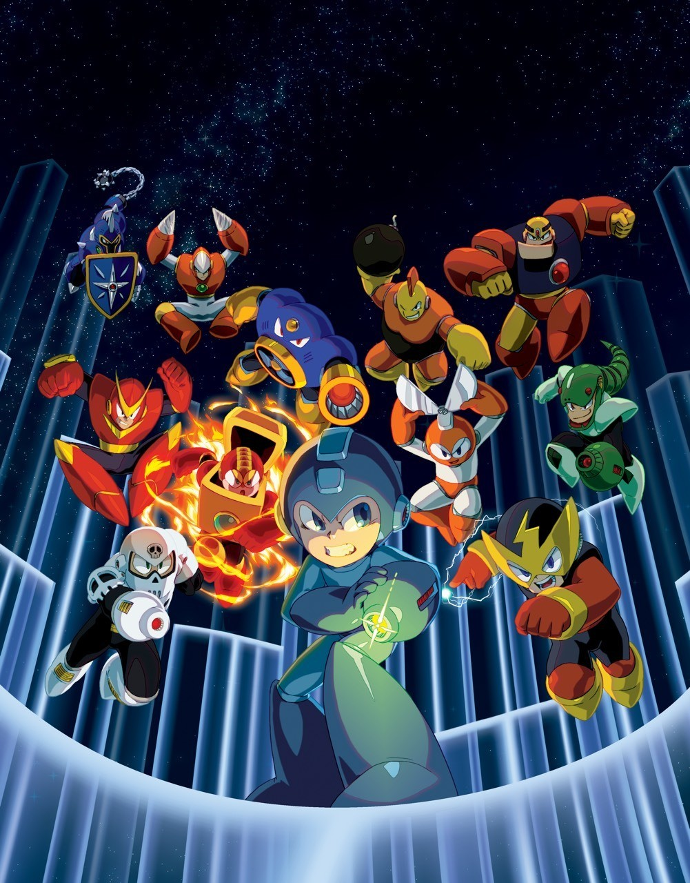 Official art from the Mega Man Legacy Collection game.