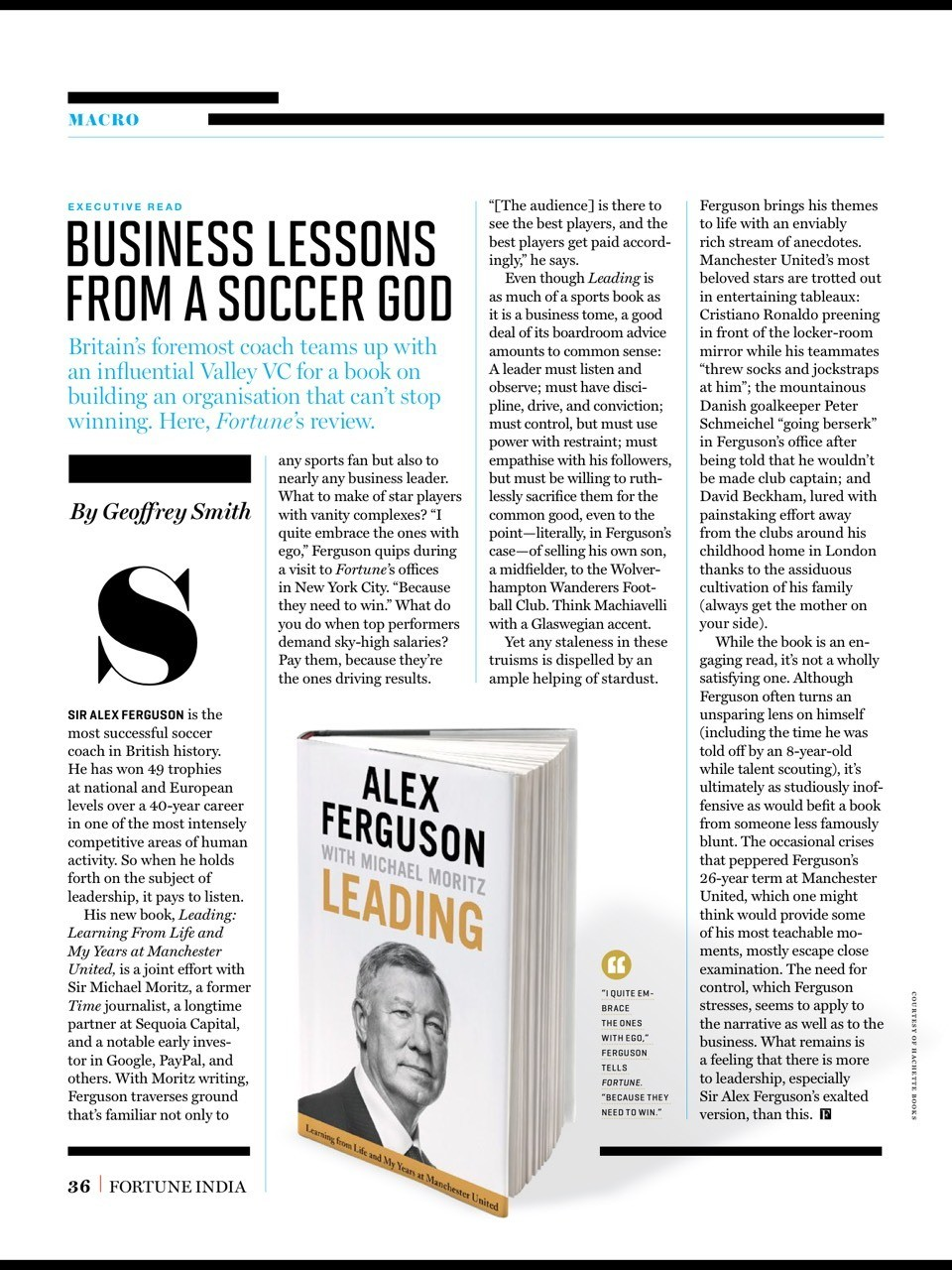 Business lesson from a soccer god