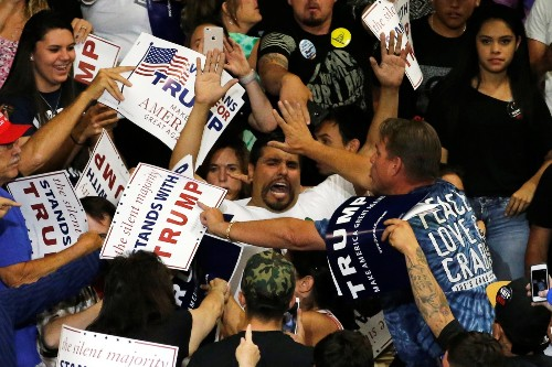Trump Rally Erupts in Violence in New Mexico: Pictures